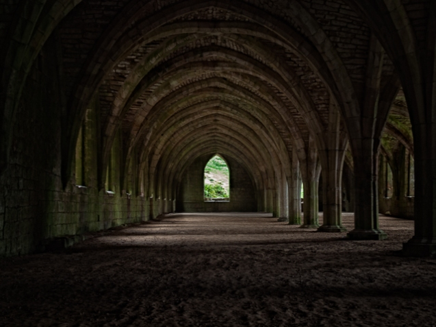 The Cellarium at Fountains Abbey