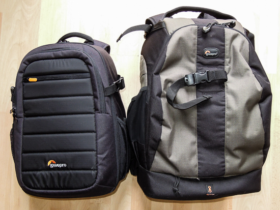 Lowepro Tahoe and Flipside 400 AW backpacks